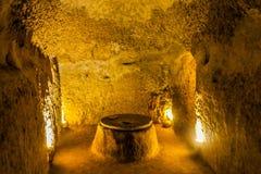 Nooshabad underjordisk stad 04 arkivbilder