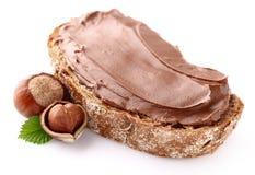 Nootachtige chocoladeroom royalty-vrije stock afbeeldingen