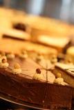 Nootcake met chocoladeverglazing Royalty-vrije Stock Fotografie