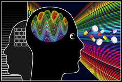 Nootropic Drugs. Enhancing creativity, cognition and brain functions of human Stock Photos