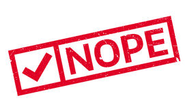 Nope rubber stamp Stock Photo