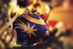 Nopeople del primer de la decoración de la Navidad Foto de archivo libre de regalías