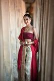 Noppamas Koningin Contest in de traditie van Loy kratong stock foto's