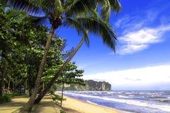 Nopparat Thara strand. Arkivfoton