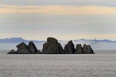 Noppenfelsen, Whiteway, Dreiheits-Bucht, Neufundland lizenzfreie stockbilder