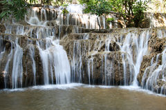 Noppiboon Waterfall in Sangkhla Buri District, Kanchanaburi Province, Thailand. Beautiful view Stock Images