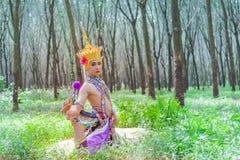 Nora är en klassisk folk och en regional dans av Thailand fotografering för bildbyråer