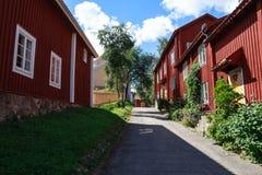 Nora na cidade sueco tradicional da Suécia A Fotografia de Stock Royalty Free