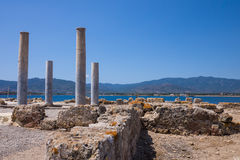 Nora ruins on sardegna Stock Photos