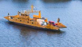 Nora STA Drogowymi promami Żółty Ro ładunku statek Obrazy Stock