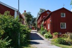 Nora in traditioneller schwedischer Stadt Schwedens A Stockbild