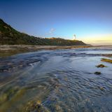 Norah Head Light House sur la c?te centrale, NSW, Australie photo libre de droits