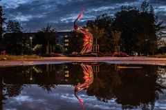 Noras Bumbieres Monument in Jelgava, Latvia royalty free stock image