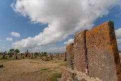 Надгробные плиты на армянском погосте Noratus стоковое фото