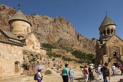 Noravank修道院,亚美尼亚- 2017年9月18日:著名Noravan 免版税库存图片