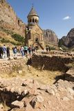 Noravank修道院,亚美尼亚- 2017年9月18日:著名Noravan 库存照片