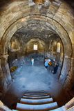 NORAVANK修道院,亚美尼亚- 2017年8月02日:Norav内部  库存照片