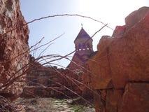 Noravank, 13世纪亚美尼亚修道院 库存照片