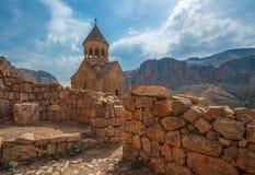 古老修道院Noravank,山, Amaghu谷,亚美尼亚 图库摄影