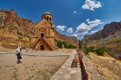 NORAVANK-KLOSTER, ARMENIEN - 02 AUGUSTI 2017: Noravank kloster Arkivbilder