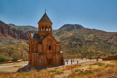 NORAVANK-KLOSTER, ARMENIEN - 02 AUGUSTI 2017: Noravank kloster Arkivfoton