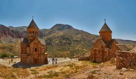 NORAVANK-KLOSTER, ARMENIEN - 02 AUGUSTI 2017: Noravank kloster Royaltyfria Foton