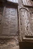 Noravank kloster, Armenien - September 18, 2017: Inre av fa Arkivfoton