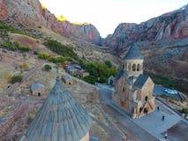 Noravank kloster från det 13th århundradet, Armenien arkivbild
