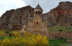 Noravank kloster nära den Areni byn Armenisk kloster från det 13th århundradet fotografering för bildbyråer