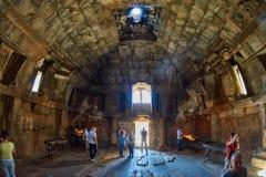 NORAVANK monaster, ARMENIA - 02 2017 SIERPIEŃ: Wnętrze Norava Zdjęcie Royalty Free