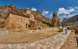 NORAVANK monaster, ARMENIA - 02 2017 SIERPIEŃ: Noravank monaster Zdjęcie Royalty Free