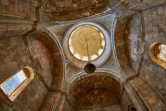 NORAVANK monaster, ARMENIA - 02 2017 SIERPIEŃ: Inside Noravank Mo Obrazy Stock