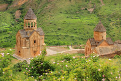 Noravank monastery. Noravank  is a 13th-century Armenian monastery, located 122 km from Yerevan in a narrow gorge made by the Amaghu River, near the city of Stock Images