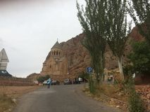 Magic Monastery of Noravanq. Noravanq monastery is on of the most spectacular tourist attraction in Armenia.This magic monastery is located in the south of Stock Photography