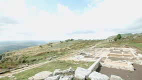 Norba ruins ancient Town in Italy stock video