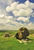 Norber irrégulier, Norber, Austwick, West Yorkshire Photos libres de droits