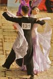 Norbert Fodor/ Reka Vaszi. Ballroom dancers, 8th place at the National Dance Contest, Cupa Romaniei, 25 October 2009, Timisoara,16 - 18 years, Open Standard Royalty Free Stock Photography