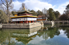 Norbulingka. Is a palace and surrounding park in Lhasa, Tibet. It served as the traditional summer residence of the successive Dalai Lamas Stock Images