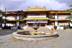 Norbulingka. Is a palace and surrounding park in Lhasa, Tibet. It served as the traditional summer residence of the successive Dalai Lamas Stock Photos