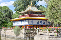 Norbulingka park w Lhasa obraz stock
