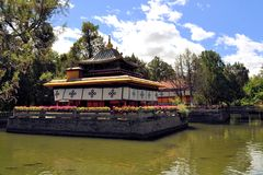 Norbulingka summer palace of Dalai Lama, Tibet Royalty Free Stock Photos