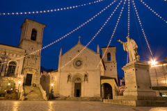 Norcia. This is Norcia' square. Norcia is the country of San Benedetto Royalty Free Stock Photo