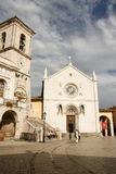 Norcia. Photo of the most important church of Norcia, umbria Royalty Free Stock Images