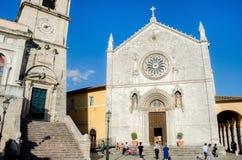 Norcia Basilica di San Benedetto Stock Image