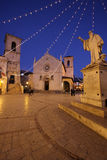 Norcia, Italy. The church of St. Benedict, facing Piazza San Benedetto, in Norcia medieval town. Province of Perugia (Italy Royalty Free Stock Image