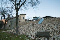Norcia miasto niszczący trzęsieniem ziemi Fotografia Royalty Free
