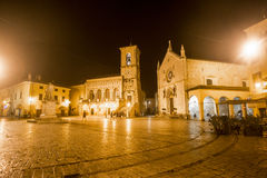 Norcia by night Royalty Free Stock Photos