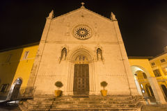 Norcia by night Stock Photos