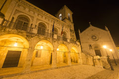 Norcia by night Royalty Free Stock Photo