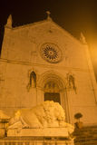 Norcia by night Royalty Free Stock Images